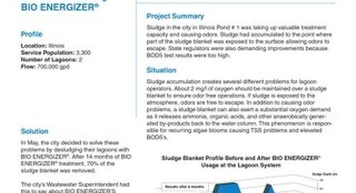 Bio Energizer Reduces Sludge, Odor, City in in IL Field Study