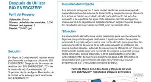 Bio Energizer Reduces Sludge, Odor, City in in IL Field Study (Spanish)