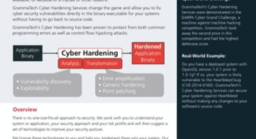 GrammaTech Cyber Hardening Services