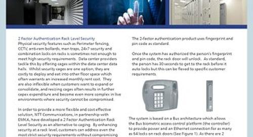 2 Factor Authentication Rack Level Security Product Description
