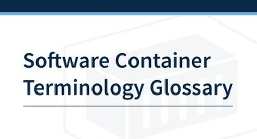 Software Container Terminology Glossary
