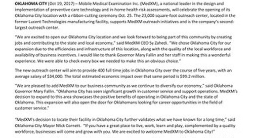 California-based MedXM opens OKC location