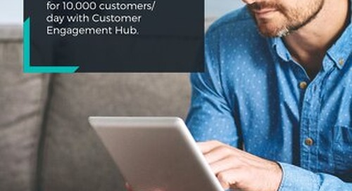Technology Company Optimizes Onboarding for 10K Customers/Day with Customer Engagement Hub