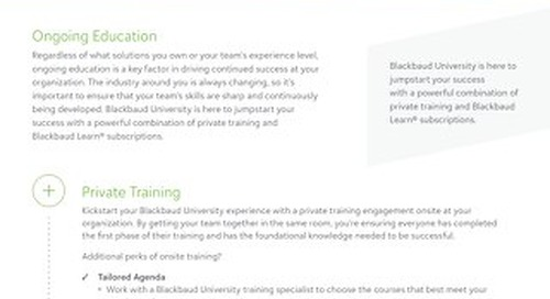Jumpstart Your Success with Blackbaud University