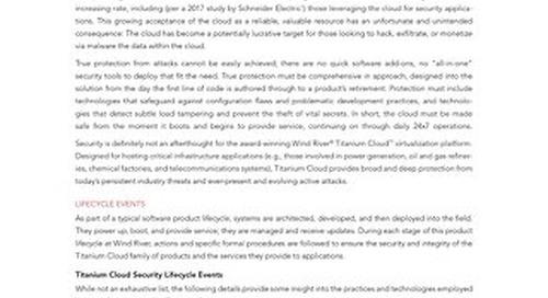 Titanium Cloud Security Brief