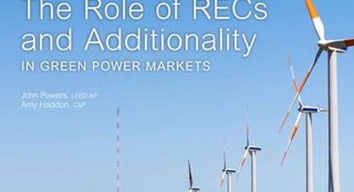 The Role of RECs & Additionality in Green Power Markets [Whitepaper]