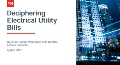 Training - How to Decipher Electrical Utility Bills
