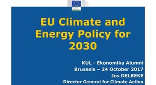EU Climate and Energy Policy for 2030 - KUL Ekonomika Alumni Brussels 24 Oct 2017