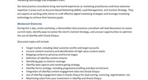 DemandGen - Content Strategy Workshop