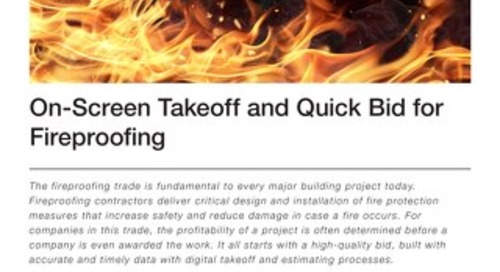 Takeoff and Estimating for Fireproofing