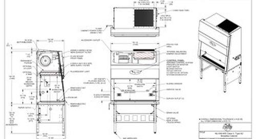 [Drawing] NU-540-400 Class II, Type A2 Biosafety Cabinet