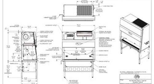 [Drawing] NU-540-500 Class II, Type A2 Biosafety Cabinet