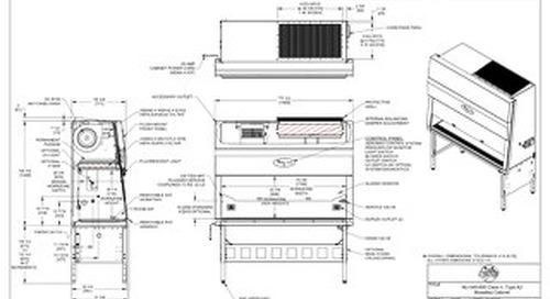 [Drawing] NU-540-600 Class II, Type A2 Biosafety Cabinet