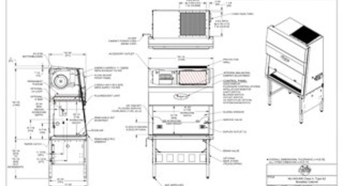 [Drawing] NU-543-400 Class II, Type A2 Biosafety Cabinet