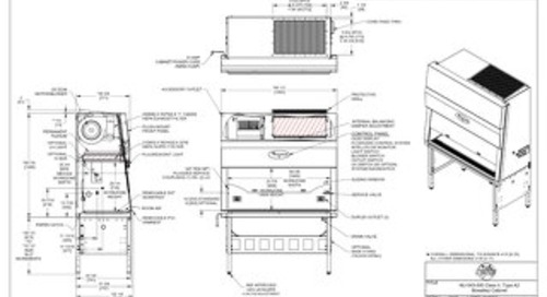 [Drawing] NU-543-500 Class II, Type A2 Biosafety Cabinet