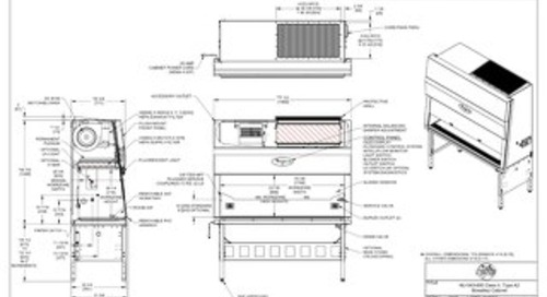[Drawing] NU-543-600 Class II, Type A2 Biosafety Cabinet