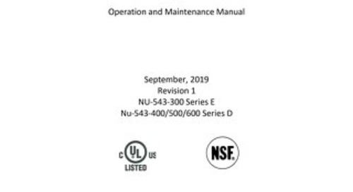 [Manual] LabGard ES AIR NU-543 Series 1 Class II, Type A2 Biosafety Cabinet
