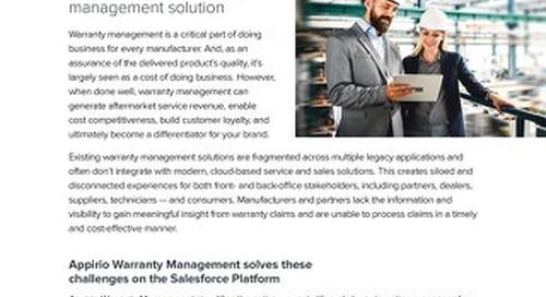 Appirio Warranty Management