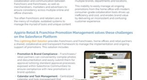 Appirio Retail & Franchise Promotion Management - Lightning Bolt Solution