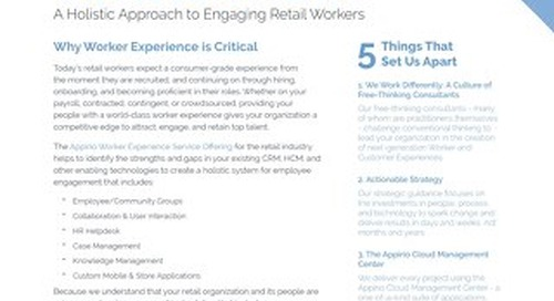 A Holistic Approach to Engaging Retail Workers