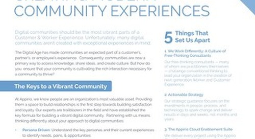 Creating Modern Community Experiences