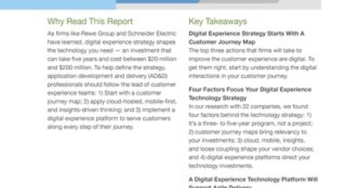 Forrester: Your Digital Experience Technology Strategy Starts With A Customer Journey Map