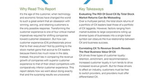 Forrester: Does Customer Experience Really Drive Business Success?