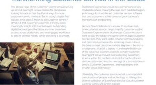 Transforming Customer Service in the Cloud