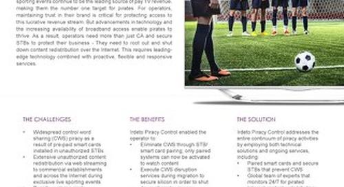 Case study: International sports broadcaster