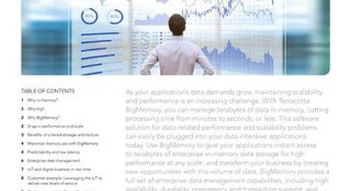 BigMemory: In-memory data management
