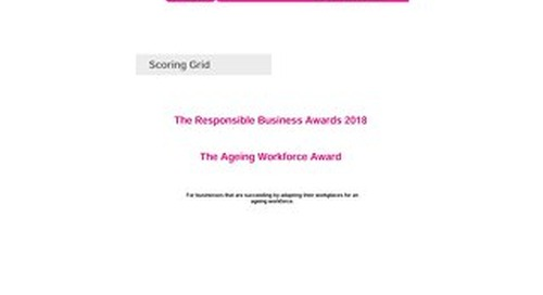The Ageing Workforce Scoring grid 2018