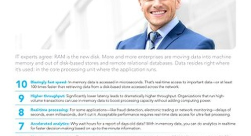 10 reasons to store  data in memory