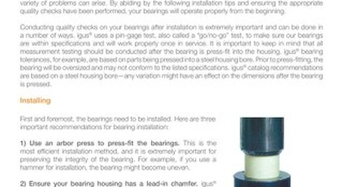 How to Install & Properly Measure Plastic Plain Bearings