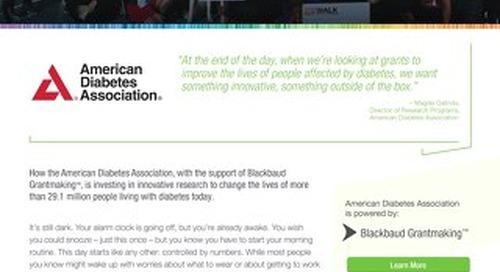 American Diabetes Association - Customer Story