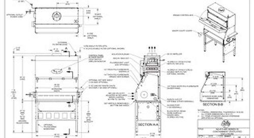 [Drawing] NU-813-400 Containment Ventilated Enclosure (CVE)