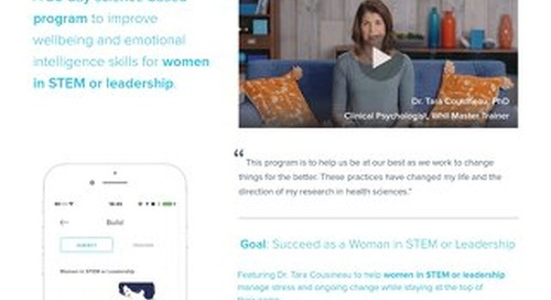 Product Brief: Our Targeted Wellbeing Program for Women in Stem or Leadership