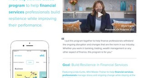 Product Brief: Our Targeted Wellbeing Program for Financial Services