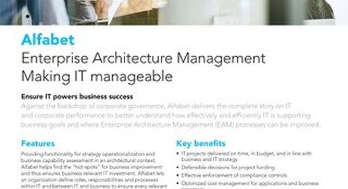 Alfabet EA Management