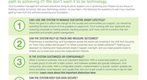 5 Questions to Ask Your Foundation Management Technology Vendor