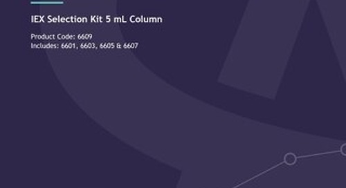 6609 - IEX 5 mL Column user guide