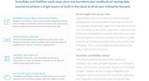 Matillion Solution Brief
