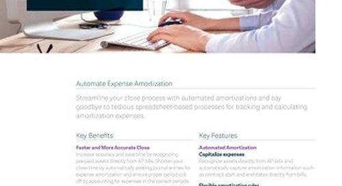 Prepaid Expense Amortization Accelerator