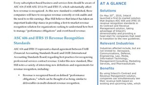 ASC 606 IFRS 15 Rev Rec Blue Hill Research Report