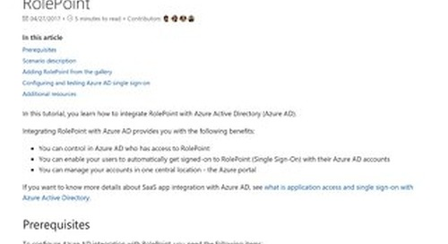 Tutorial_ Azure Active Directory integration with RolePoint _ Microsoft Docs