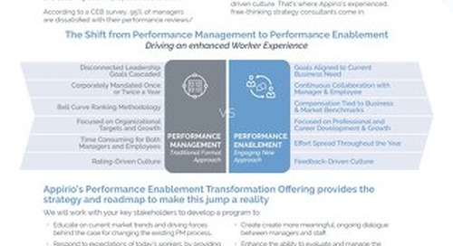 Appirio Performance Enablement Transformation