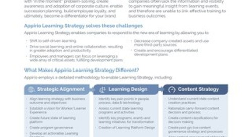 Appirio Learning Strategy