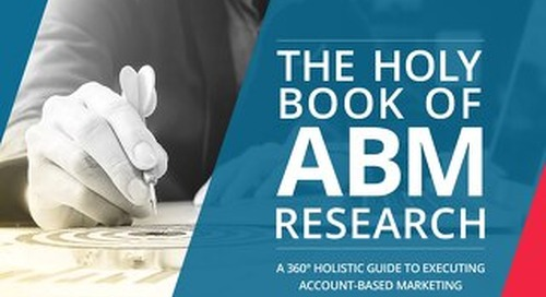 The Holy Book of ABM Research  |  Engagio