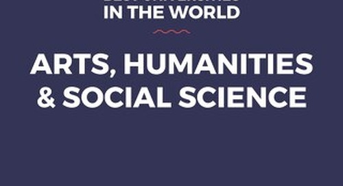 Best Universities in the World for Arts, Humanities & Social Science