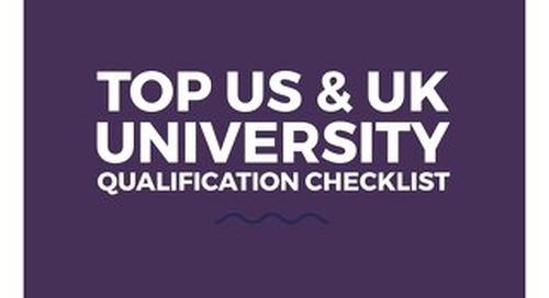 Top US/UK University Qualification Checklist