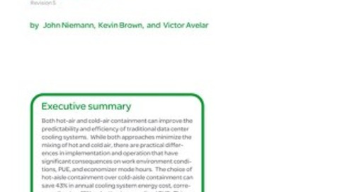WP 135 - Impact of Hot and Cold Aisle Containment on Data Center Temperature and Efficiency